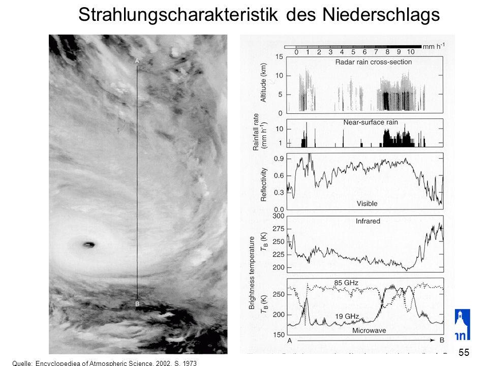 Strahlungscharakteristik des Niederschlags