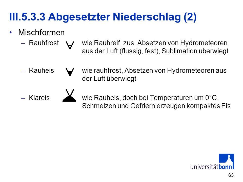 III.5.3.3 Abgesetzter Niederschlag (2)