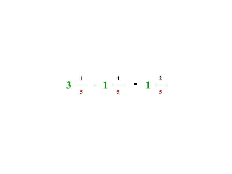 1 4 2 3 ____ 1 ____ 1 ____ - = 5 5 5