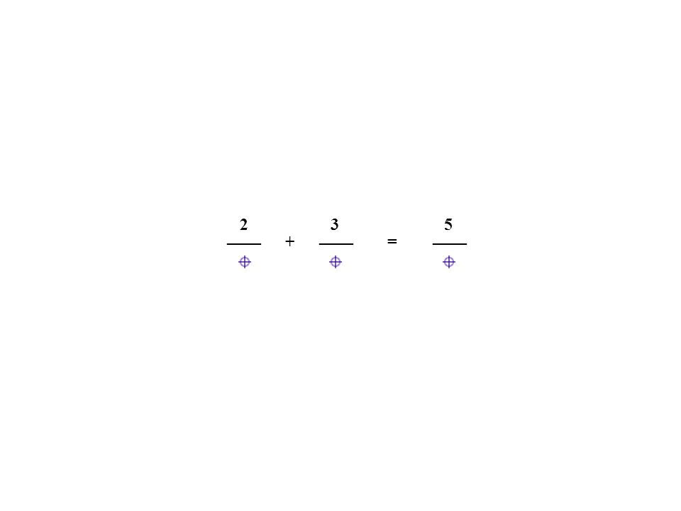 2 3 5 ____ ____ ____ + =