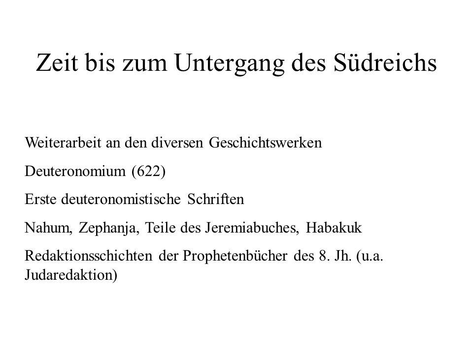Zeit bis zum Untergang des Südreichs