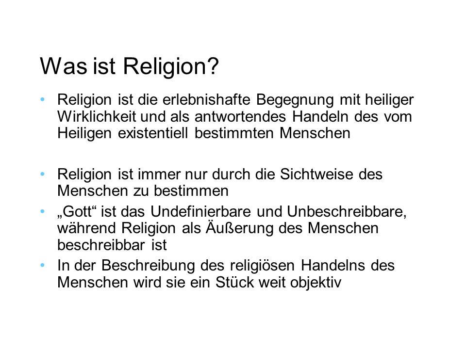 Was ist Religion