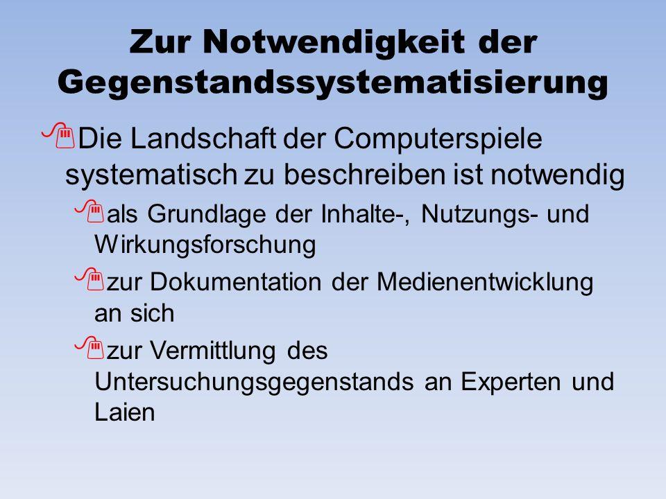 Zur Notwendigkeit der Gegenstandssystematisierung