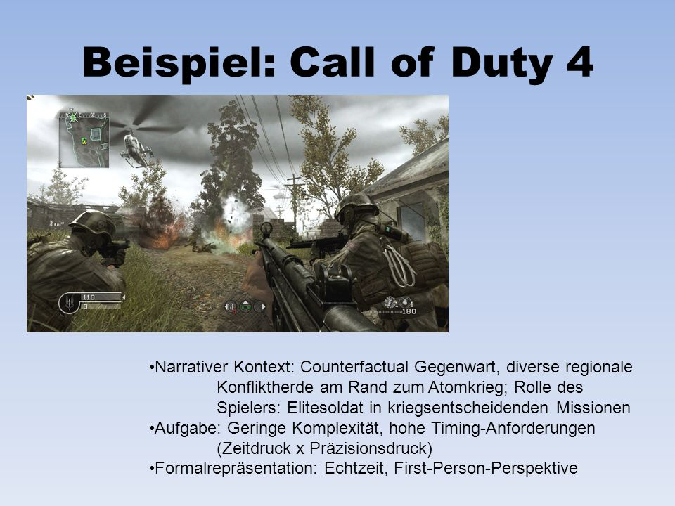Beispiel: Call of Duty 4