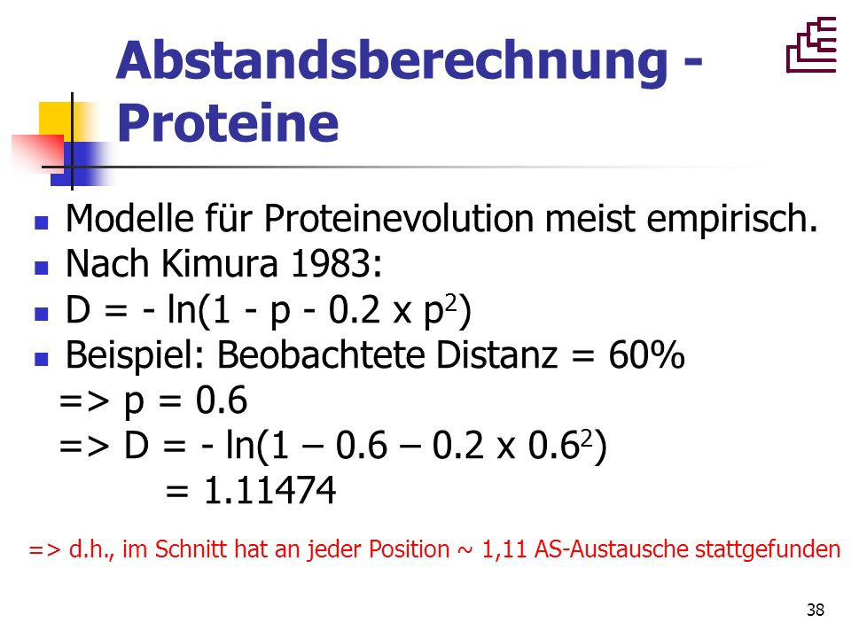 Abstandsberechnung - Proteine