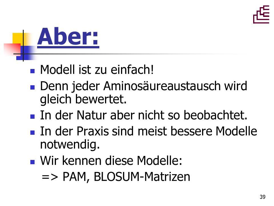 Aber: Modell ist zu einfach!