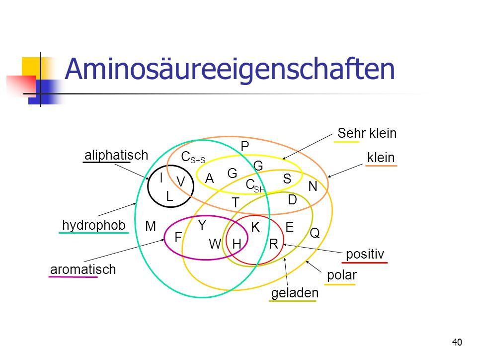 Aminosäureeigenschaften