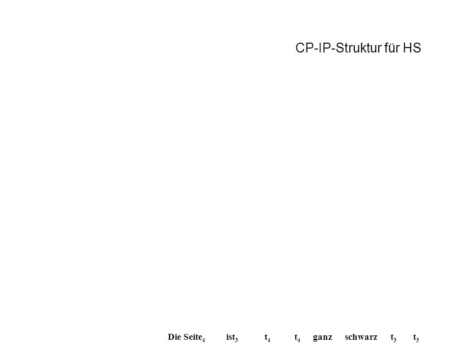 CP-IP-Struktur für HS Die Seite4 ist3 t4 t4 ganz schwarz t3 t3