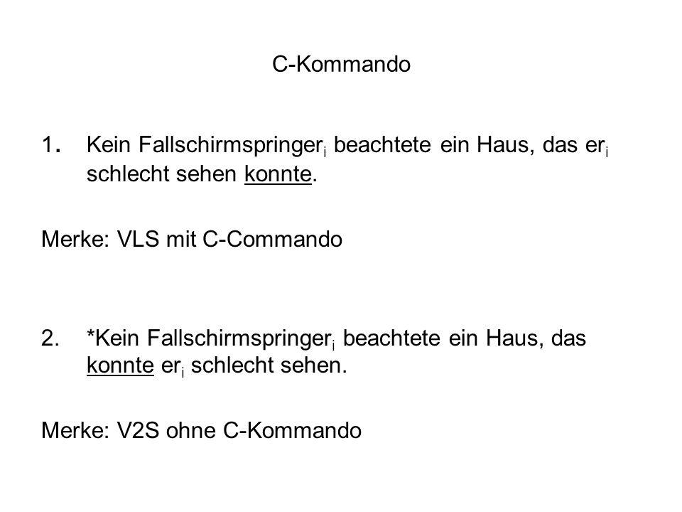 Merke: VLS mit C-Commando