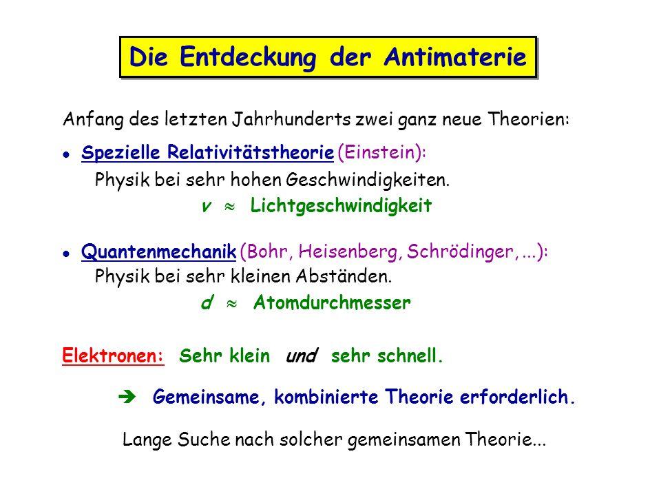 Die Entdeckung der Antimaterie