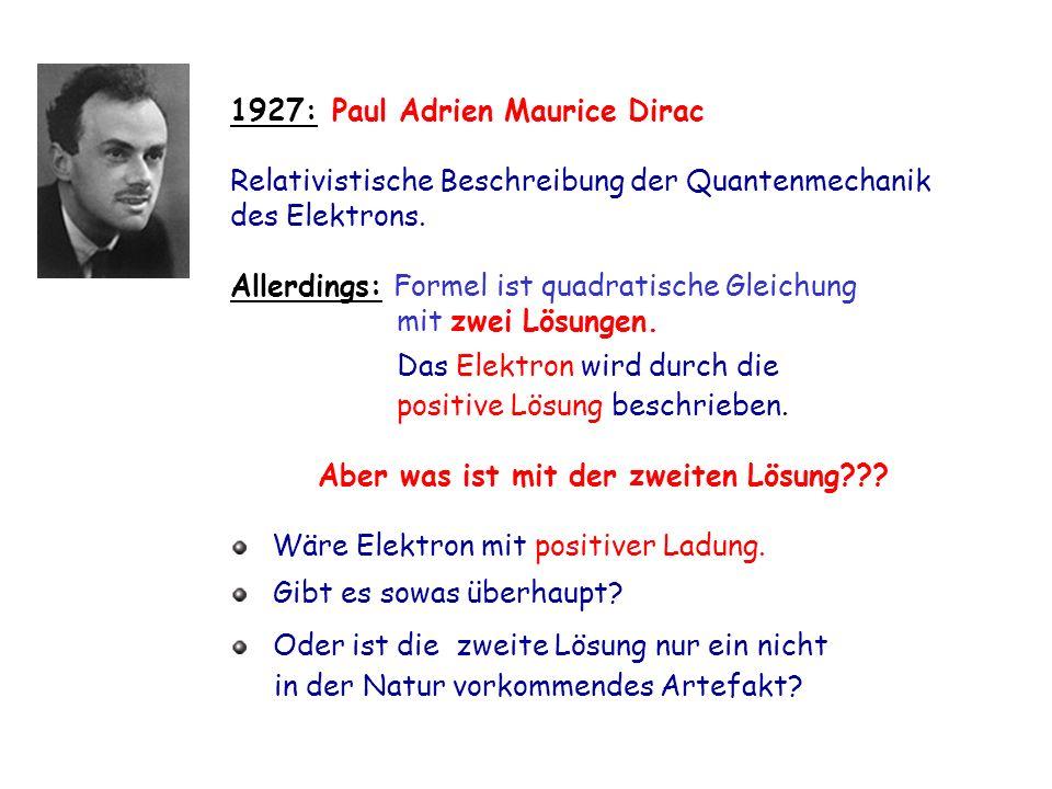 1927: Paul Adrien Maurice Dirac