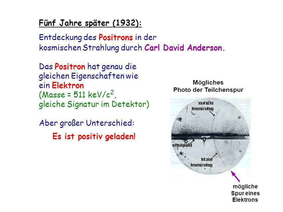 Photo der Teilchenspur