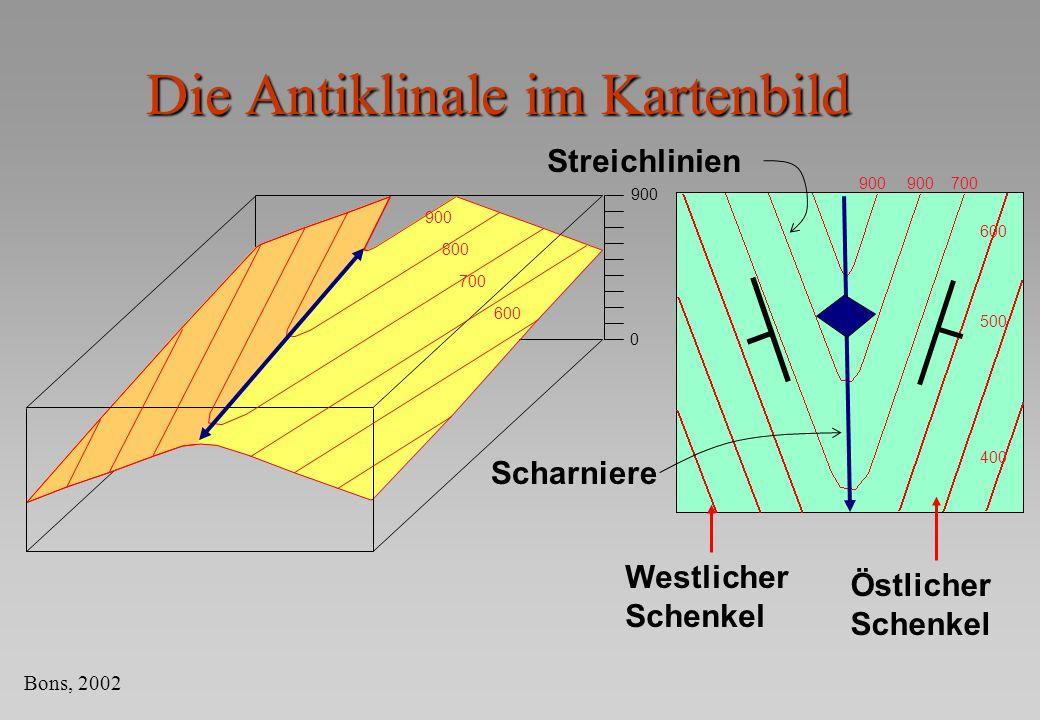 Die Antiklinale im Kartenbild
