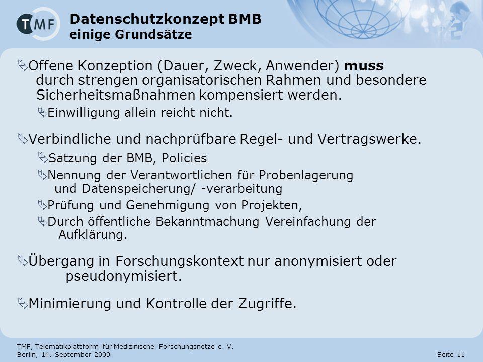 Datenschutzkonzept BMB einige Grundsätze