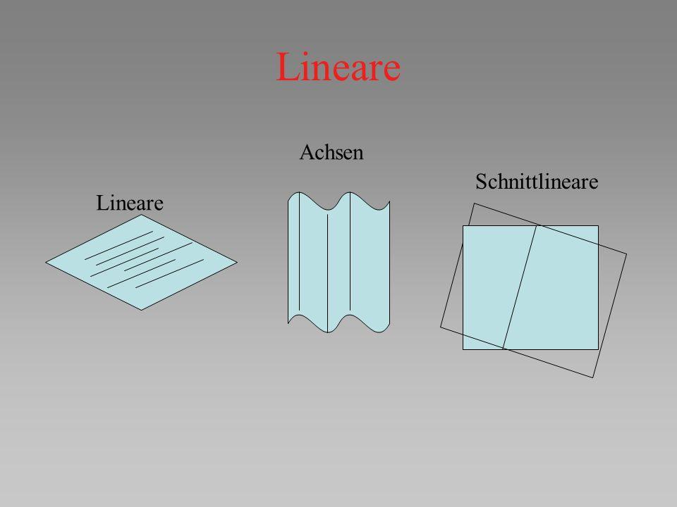 Lineare Achsen Schnittlineare Lineare