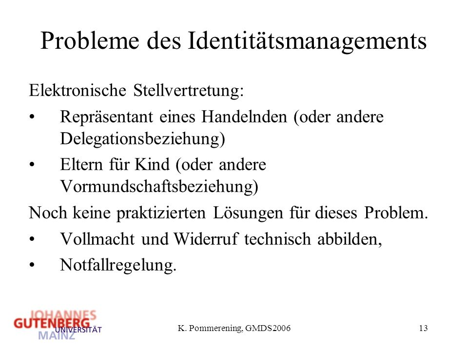 Probleme des Identitätsmanagements