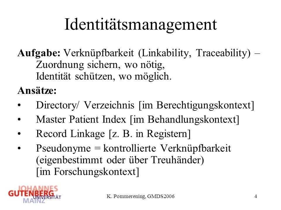 Identitätsmanagement