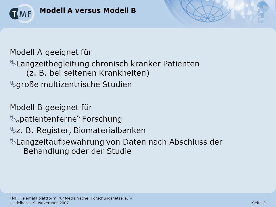 Modell A versus Modell B