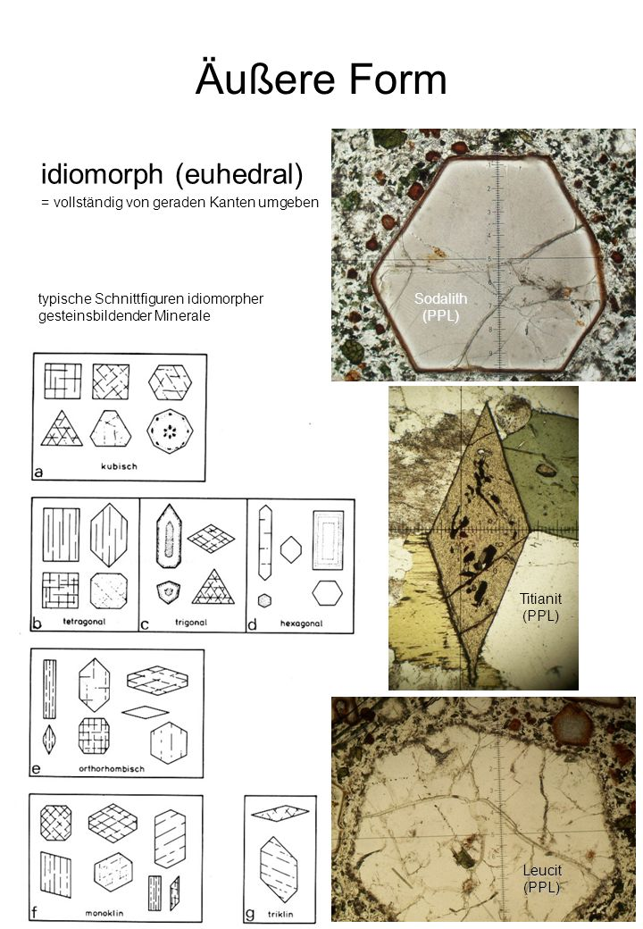 Äußere Form idiomorph (euhedral)