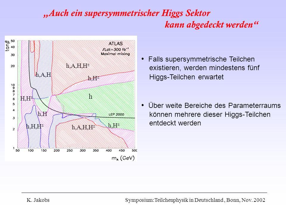 """""""Auch ein supersymmetrischer Higgs Sektor kann abgedeckt werden"""