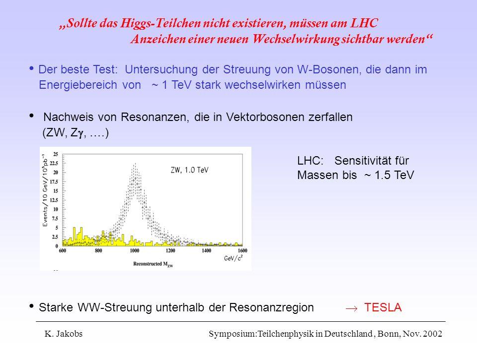 Der beste Test: Untersuchung der Streuung von W-Bosonen, die dann im