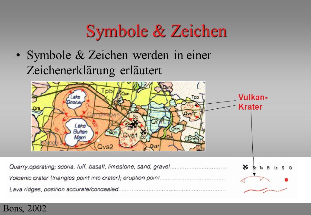 Symbole & Zeichen Symbole & Zeichen werden in einer Zeichenerklärung erläutert.