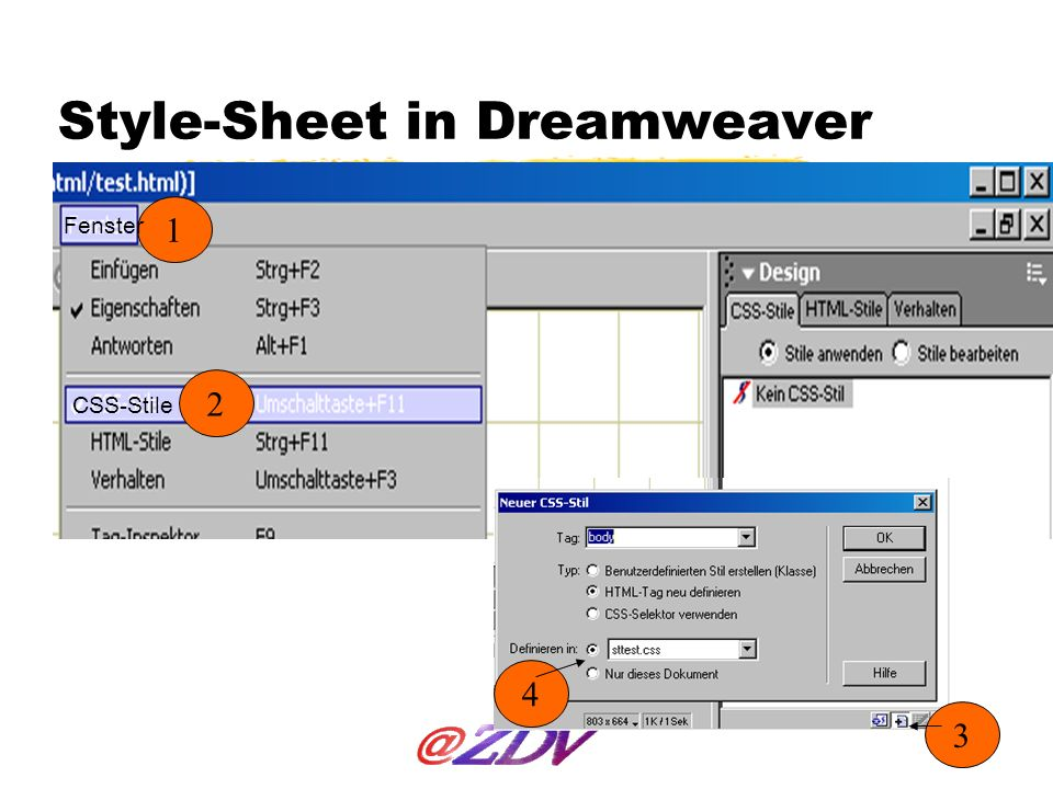 Style-Sheet in Dreamweaver