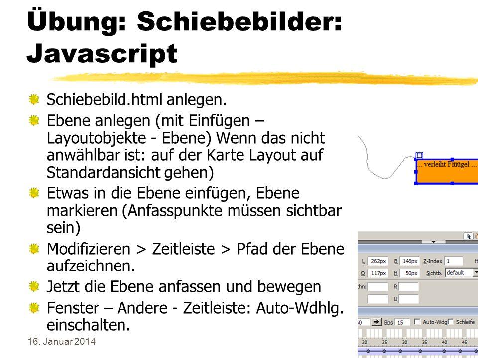 Übung: Schiebebilder: Javascript