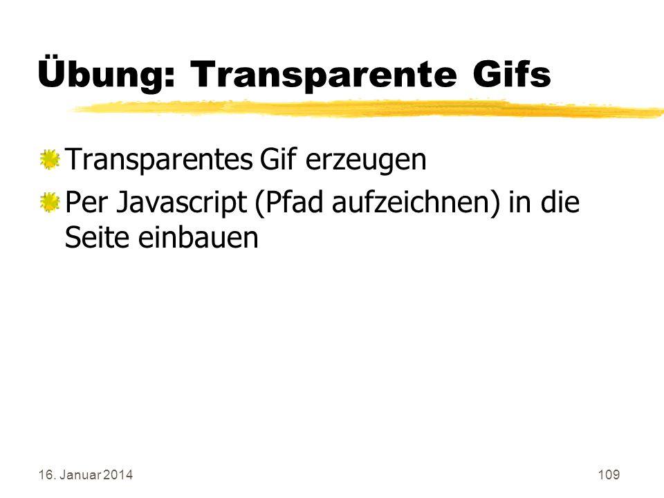 Übung: Transparente Gifs