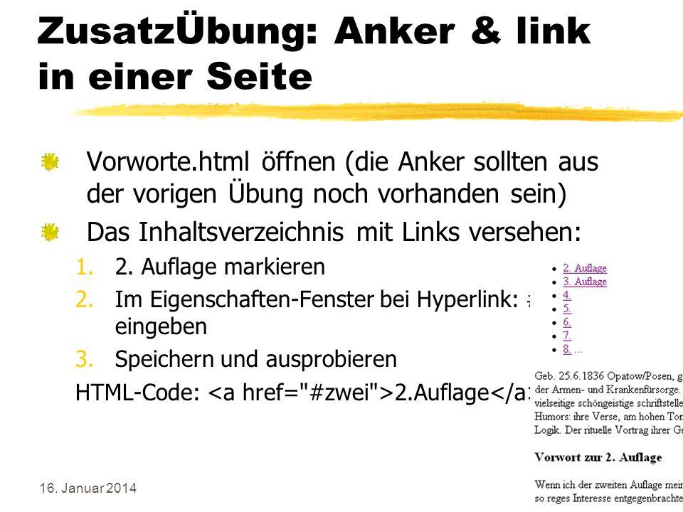 ZusatzÜbung: Anker & link in einer Seite