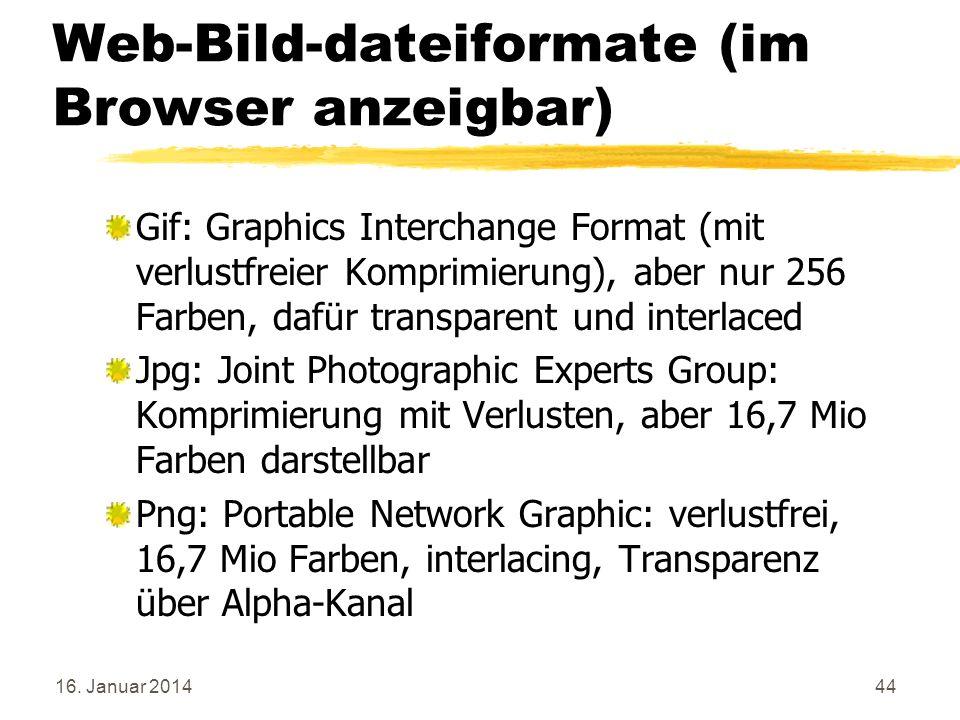 Web-Bild-dateiformate (im Browser anzeigbar)