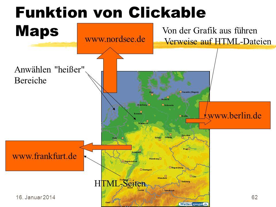 Funktion von Clickable Maps