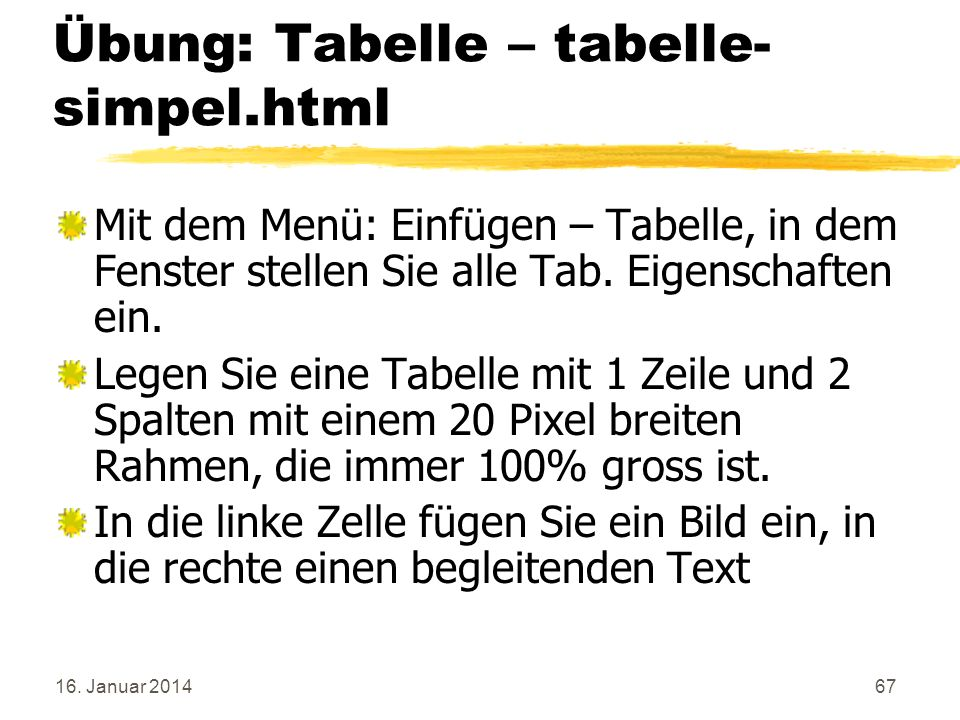 Übung: Tabelle – tabelle-simpel.html