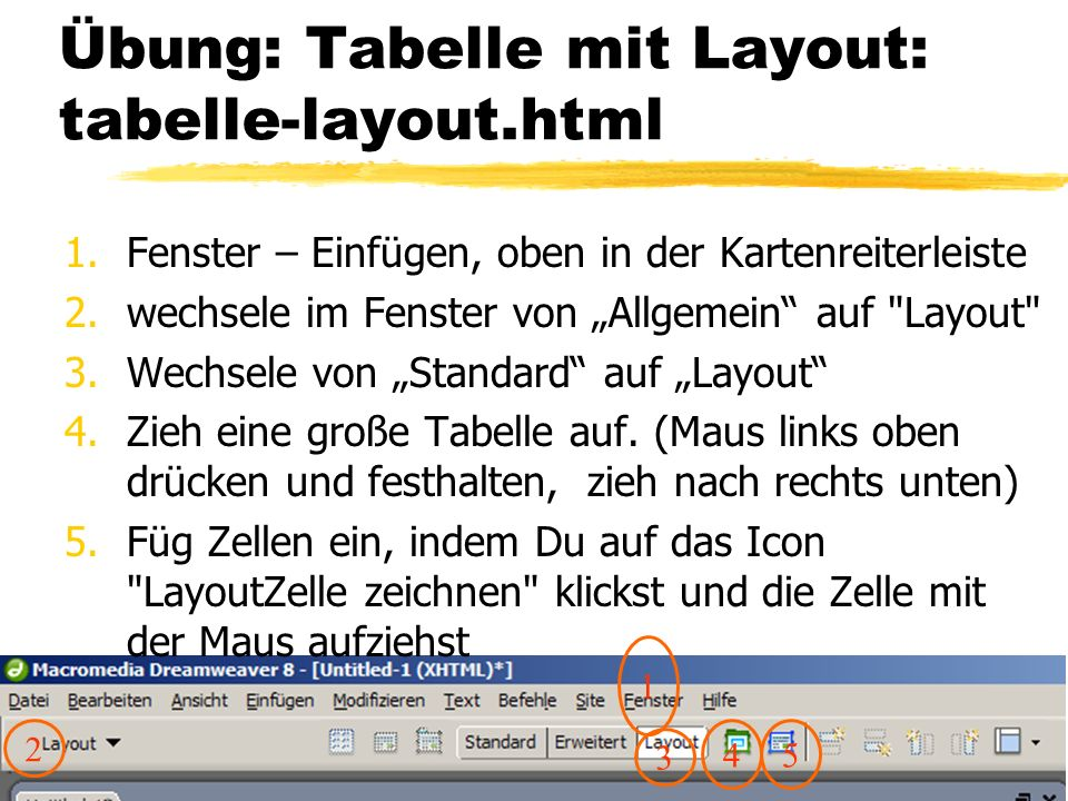 Übung: Tabelle mit Layout: tabelle-layout.html