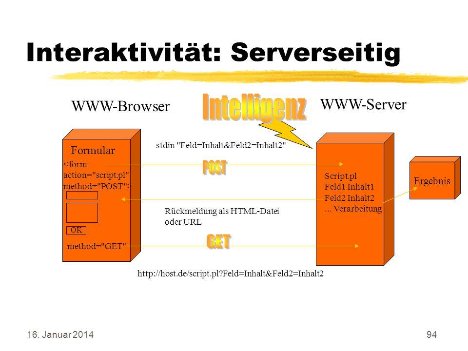 Interaktivität: Serverseitig