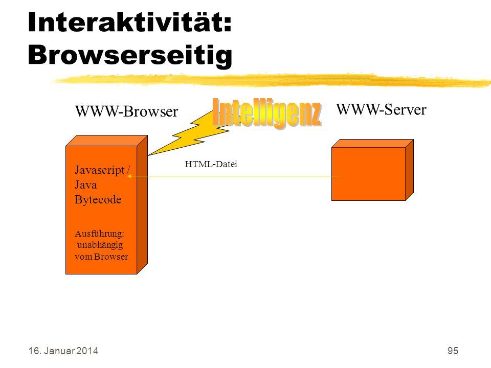 Interaktivität: Browserseitig