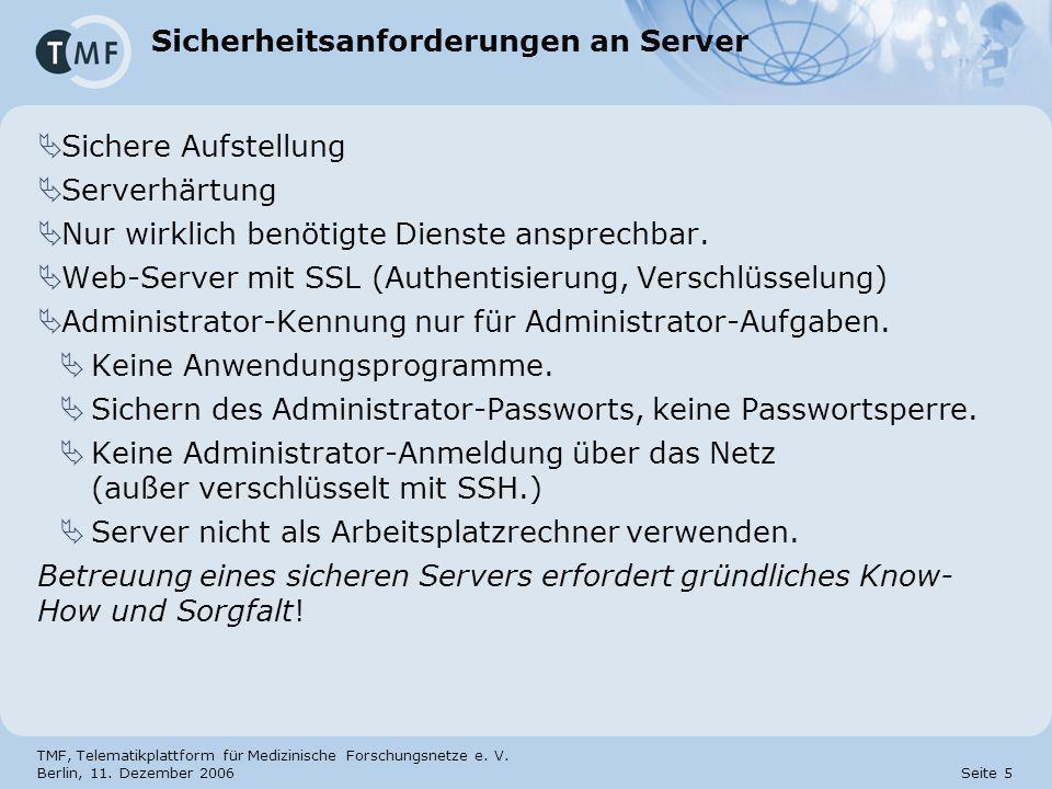 Sicherheitsanforderungen an Server