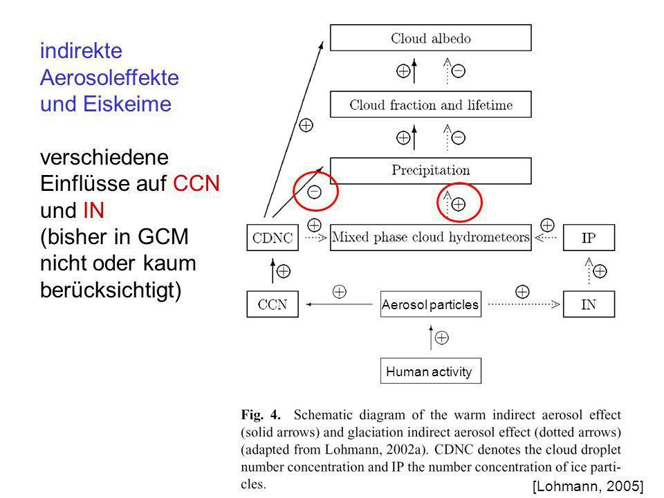 indirekte Aerosoleffekte und Eiskeime verschiedene Einflüsse auf CCN
