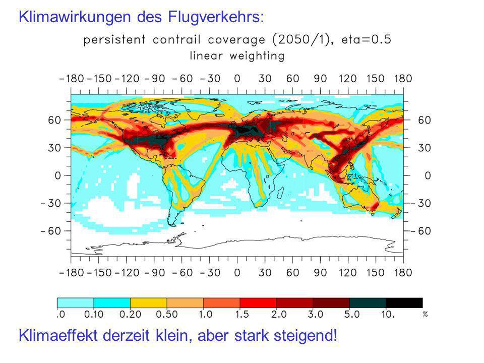 Klimawirkungen des Flugverkehrs: