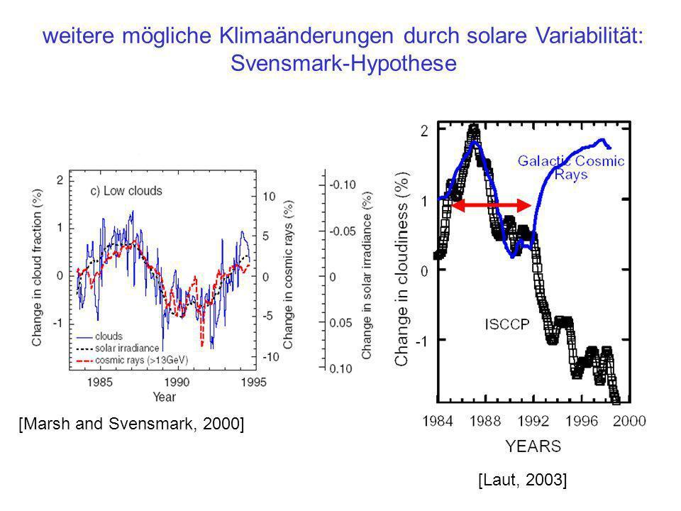 weitere mögliche Klimaänderungen durch solare Variabilität: