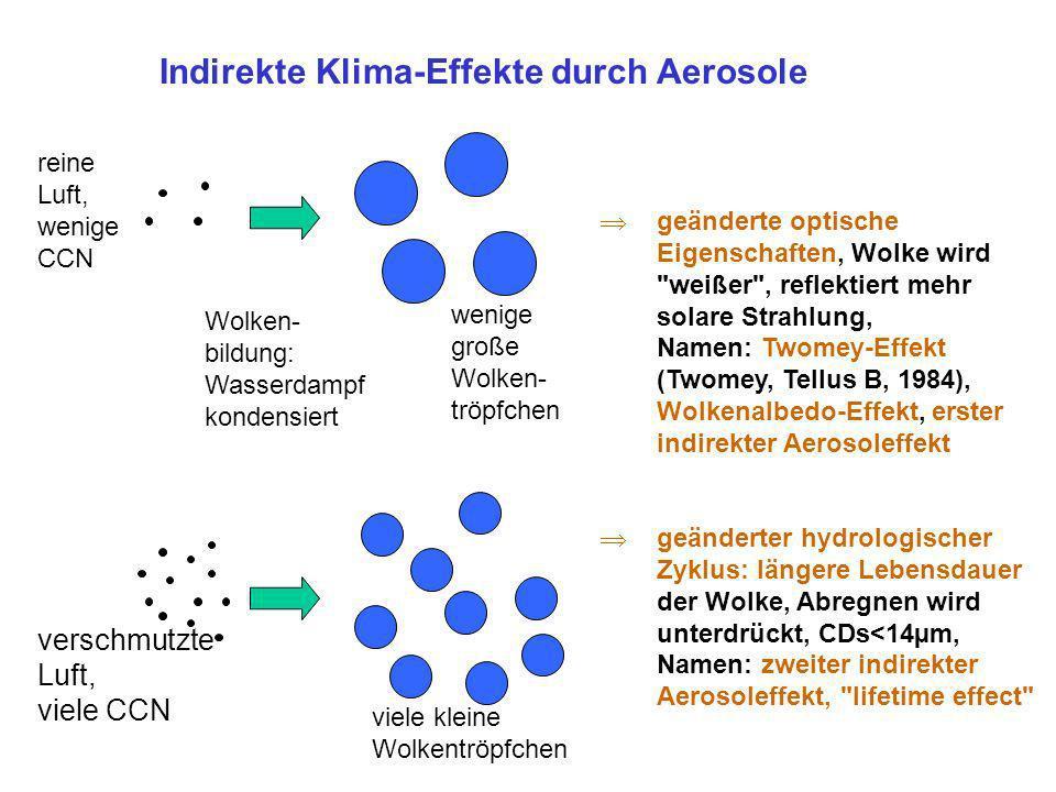 Indirekte Klima-Effekte durch Aerosole