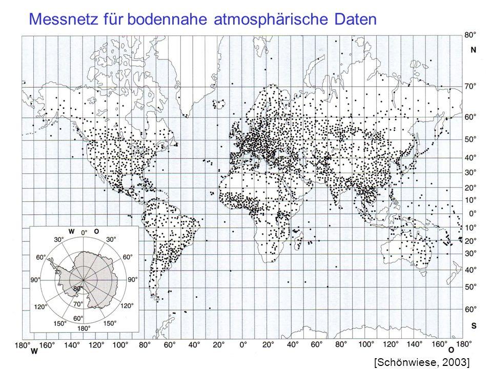 Messnetz für bodennahe atmosphärische Daten