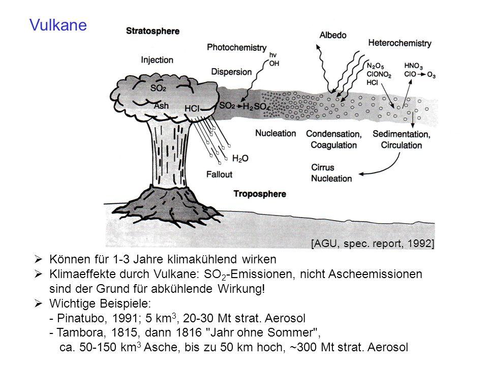 Vulkane Können für 1-3 Jahre klimakühlend wirken