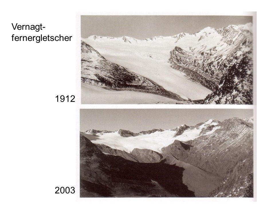 Vernagt- fernergletscher 1912 2003