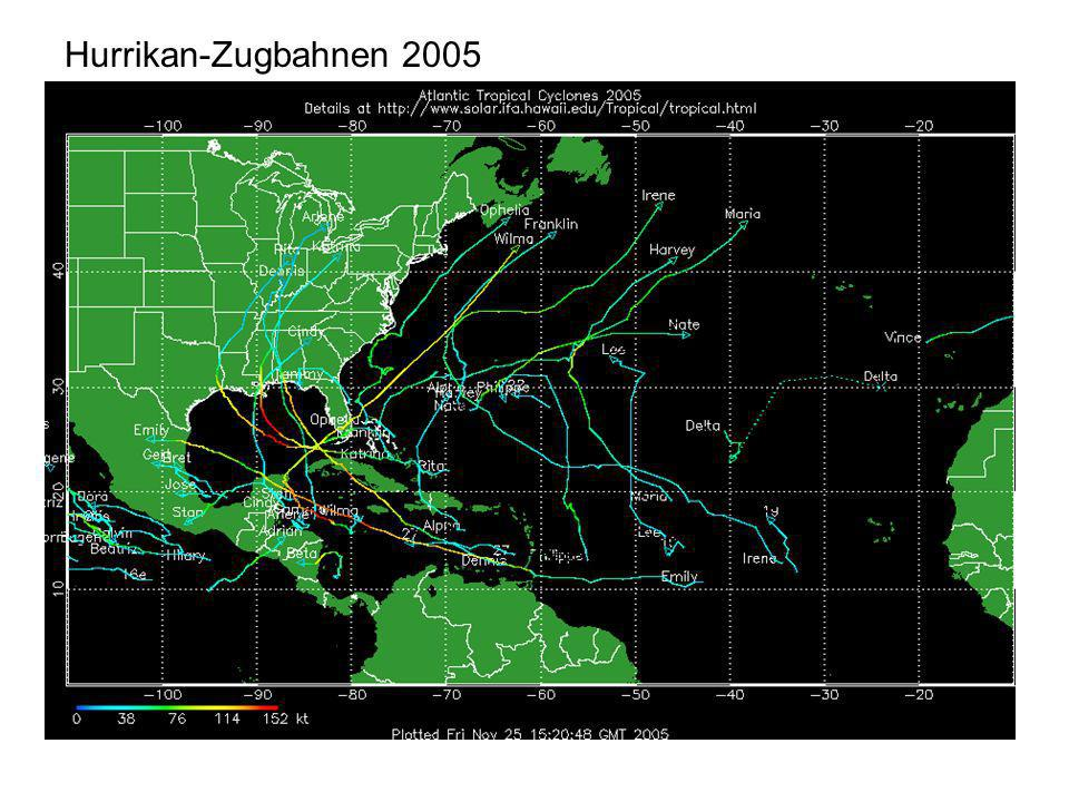 Hurrikan-Zugbahnen 2005