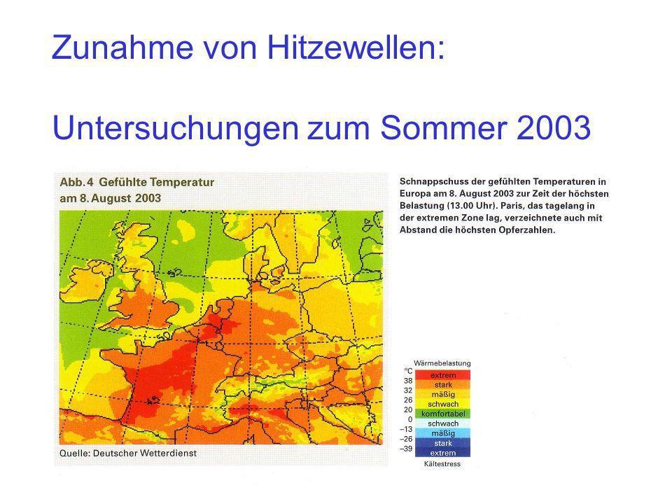 Zunahme von Hitzewellen:
