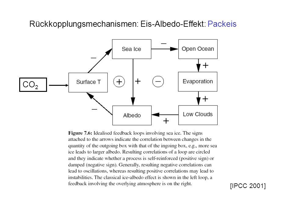 Rückkopplungsmechanismen: Eis-Albedo-Effekt: Packeis