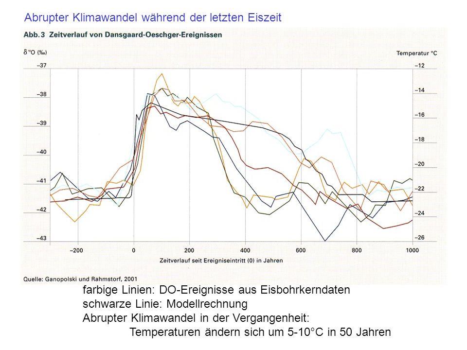 Abrupter Klimawandel während der letzten Eiszeit