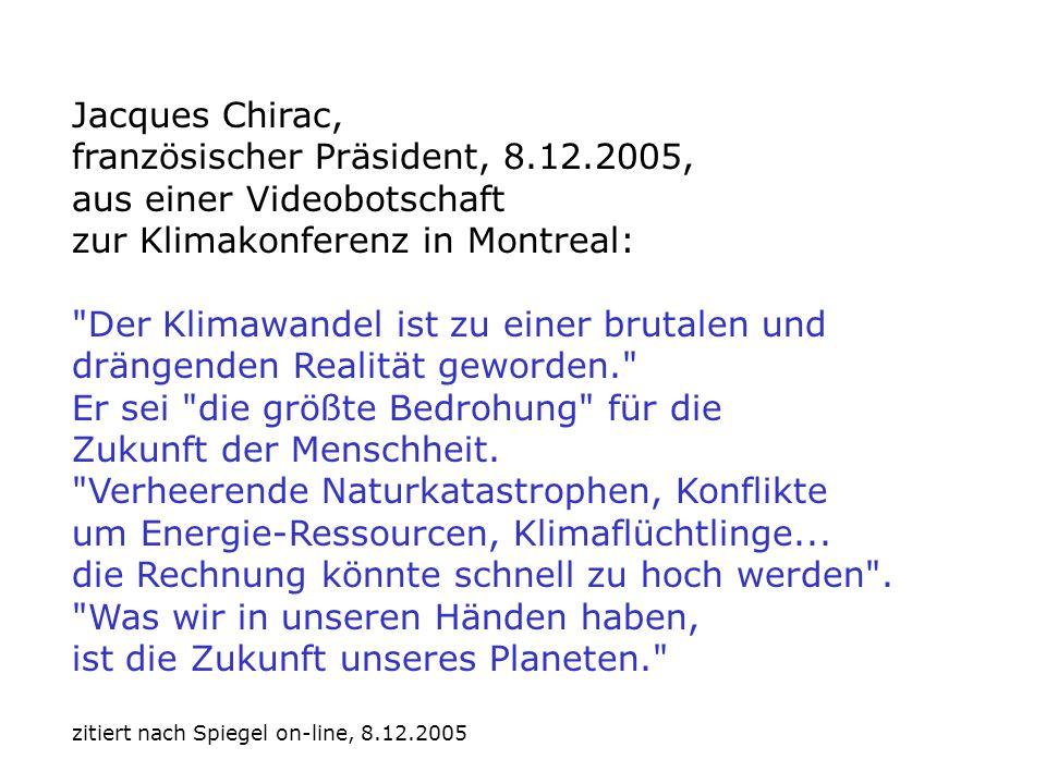 Jacques Chirac, französischer Präsident, 8.12.2005,