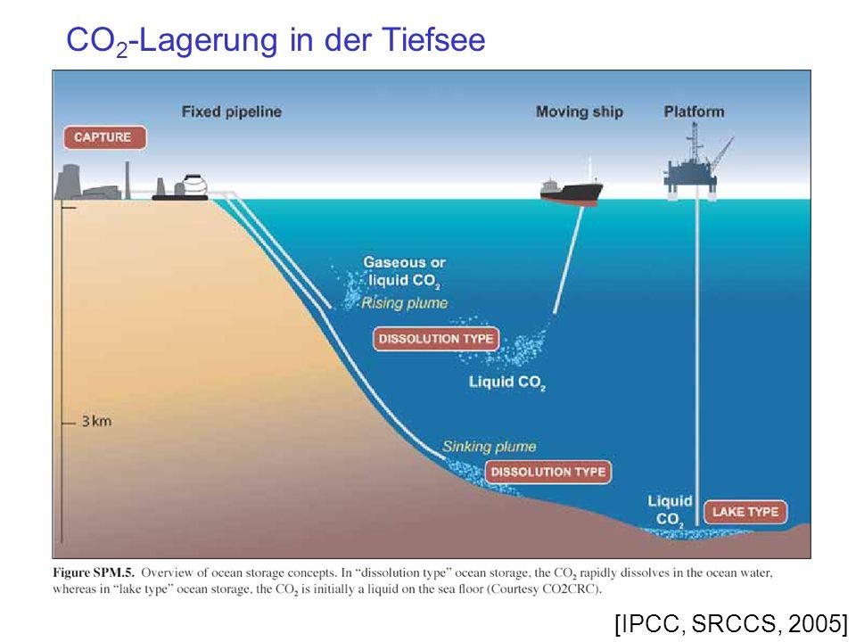 CO2-Lagerung in der Tiefsee